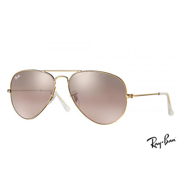 89bef89f37b Best replica Ray Ban RB3025 Aviator Gradient Sunglasses Gold frame ...