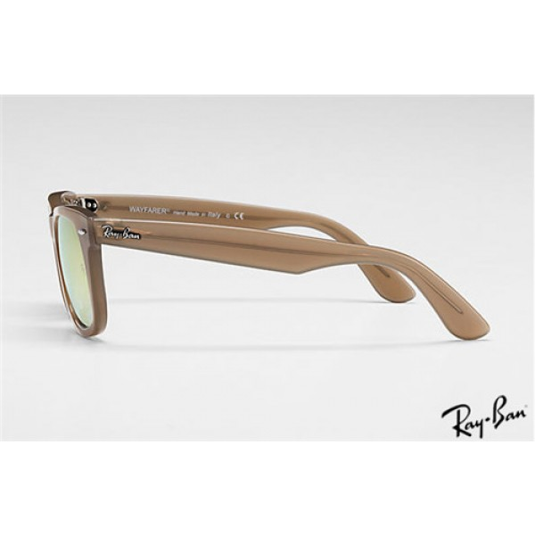 3b8ca83a76d57 Cheap Ray Ban RB4340 Wayfarer Ease Sunglasses Light Brown frame ...