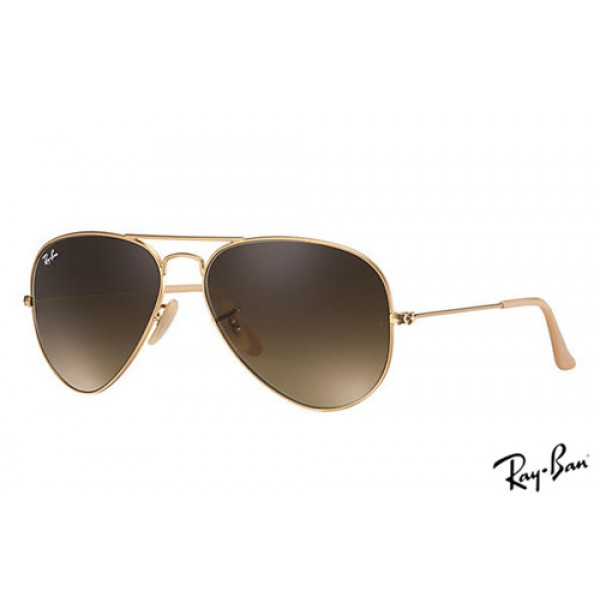 66b923c0d ... shopping fake ray ban rb3025 aviator gradient sunglasses gold frame  brown 473d9 48daf