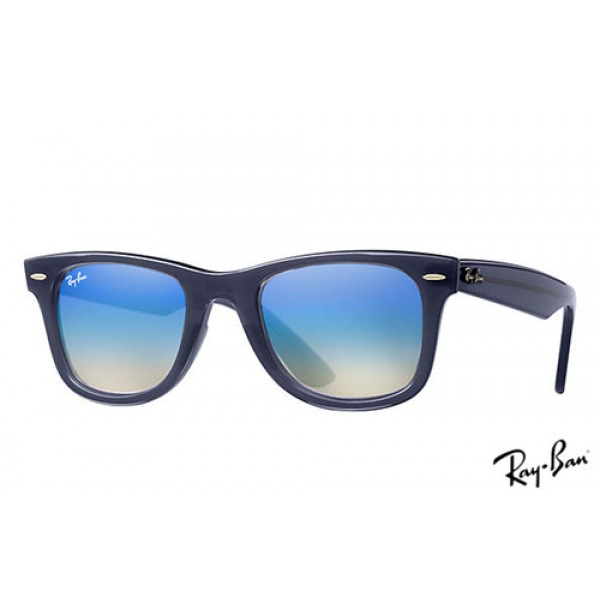 2f9b9654b82 Fake Ray Ban RB4340 Wayfarer Ease Sunglasses Blue frame   Blue ...
