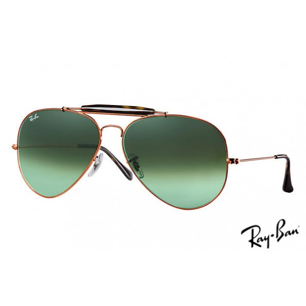 20642f788bb Outlet Ray Ban RB3029 Aviator Outdoorsman II Sunglasses Bronze ...