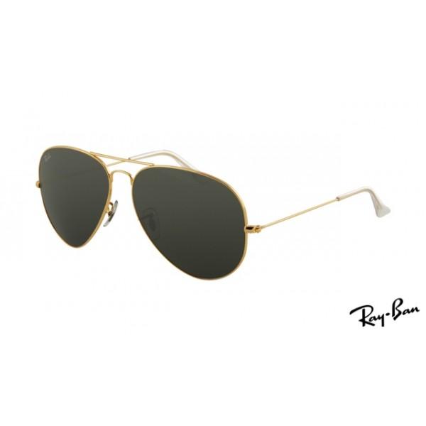 6c085bf735 Outlet Ray Ban RB3025 Aviator Sunglasses gold frame   black lens